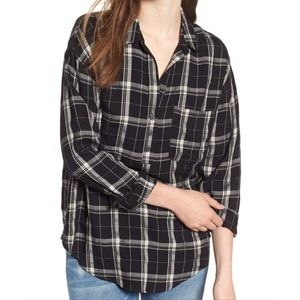 Lush Slouchy half button up Henley